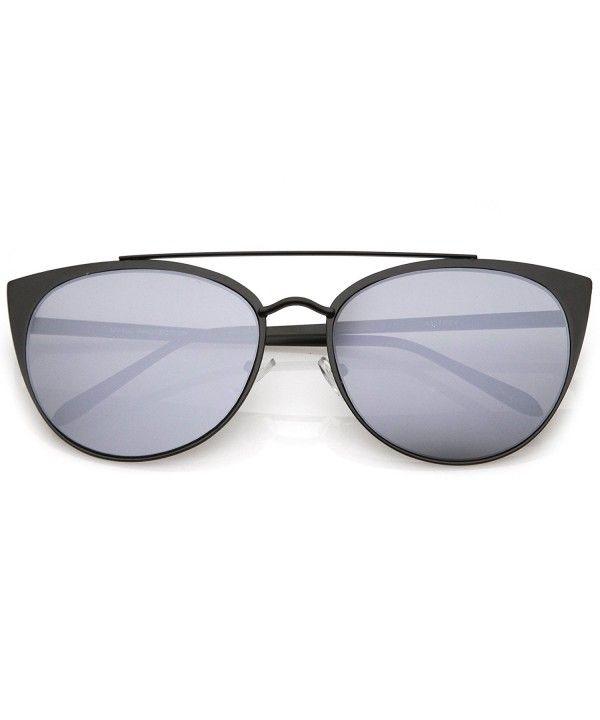 727b0d19a5b79 Oversize Sunglasses Crossbar Mirrored - Matte Black   Silver Mirror -  CS17YUOUS33 - Women s Sunglasses