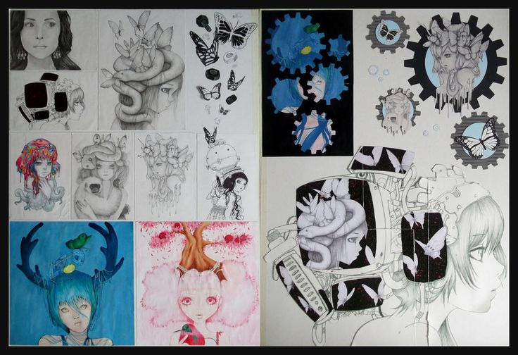 NCEA Level One Visual Art Portfolio Board by Doo-muu on DeviantArt This was my Level One Visual Art portfolio board that I did last year (2013), my theme was the Art of Camille d'Errico. I really wanted to learn her style so I could incorporate it into my own Art. A LOT of references were used in this. All of those references belong to her.