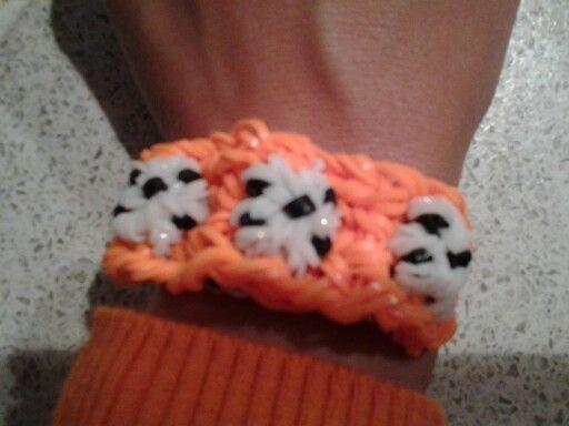 WK voetbal oranje loom bandjes Soccer loom bands