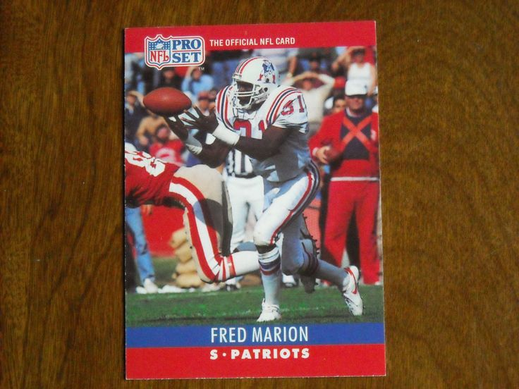 Fred Marion New England Patriots S Card No. 204 (FB204) 1990 NFL Pro Set Football Card - for sale at Wenzel Thrifty Nickel ecrater store