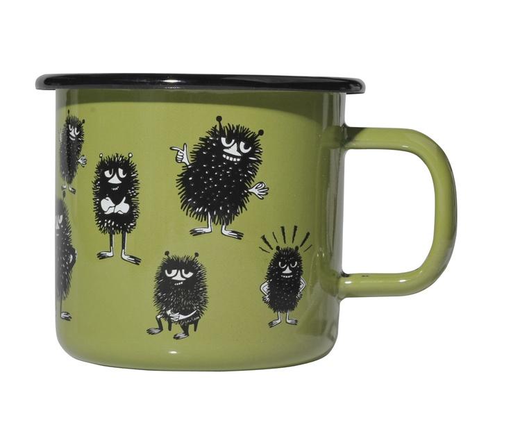 Moomin Enamel Retro Mug Stinky Muurla Design Finland | eBay
