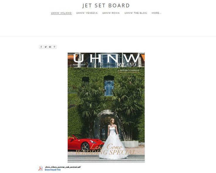 On the cover of UHNW