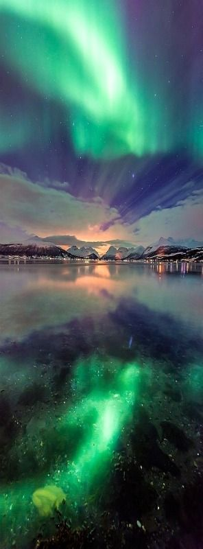 Northern Light Reflection, Tromsø, Norway