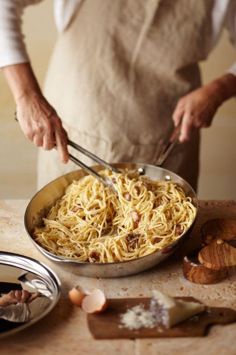PASTA ALLA CARBONARA #recipe #Italian, photo: Noel Barnhurst for Williams-Sonoma