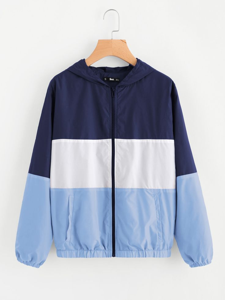 Shop Cut And Sew Hoodie Windbreaker Jacket online. SheIn offers Cut And Sew Hoodie Windbreaker Jacket & more to fit your fashionable needs.