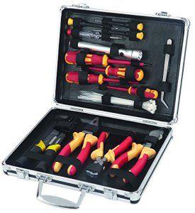 Maplin 34-piece VDE DIY Kit d'outils pour électricien dans un vol en aluminium Étui de rangement