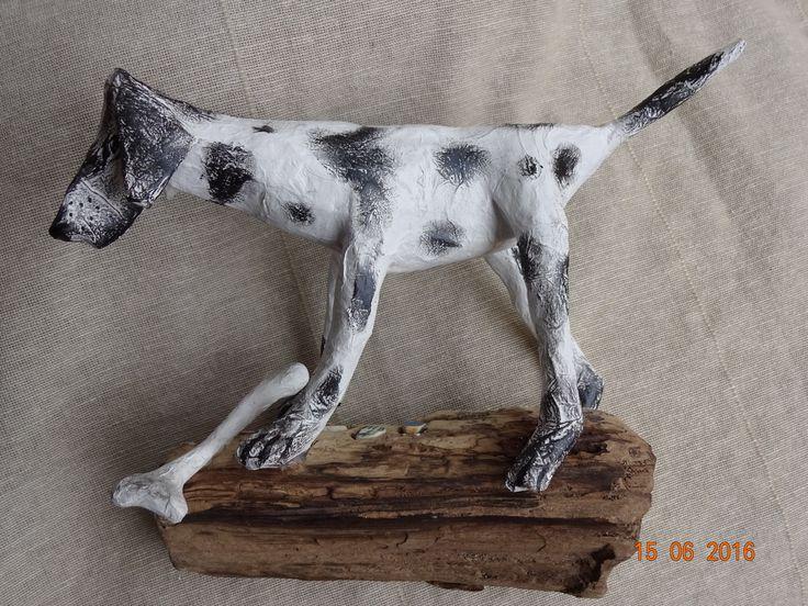 Mysta's Mirror: by Julie Massam. Mixed media on spanish driftwood. www.mystasmirror.com