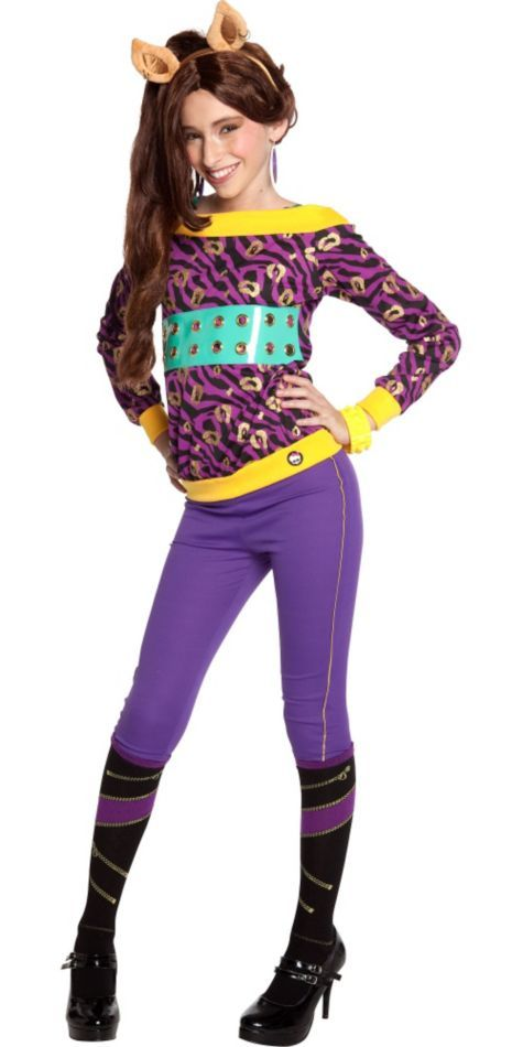 Monster High Classic Clawdeen Wolf Costume for Girls - Party City