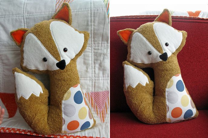 Animal Pillow Pinterest : Fox pillow, Stuffed animals and Foxes on Pinterest