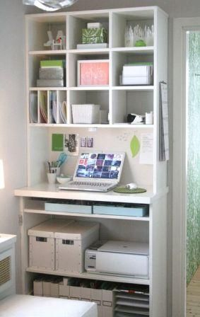 Creative Small Office Ideas | Storage Ideas | Small office nooks