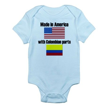 Made In America With Colombian Parts Body Suit by YeaBaby