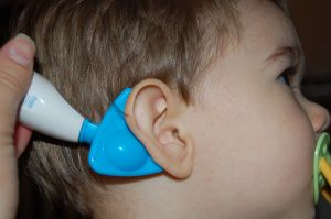 so far, we haven't had to deal with ear infections with our three, but this is pretty neat! EARDOC  to prevent ear infections