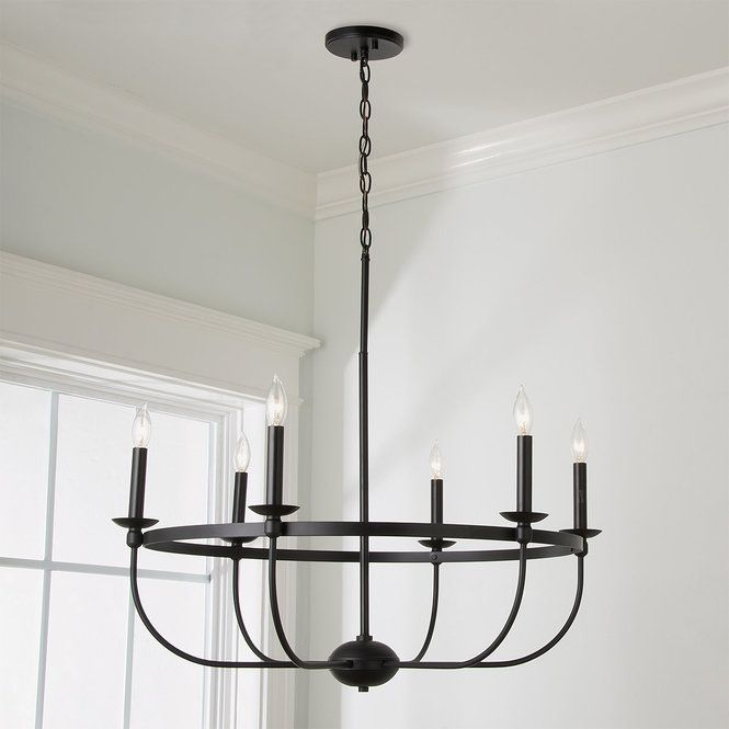 Check Out Simply Black Basket Chandelier 6 Light From Shades Of