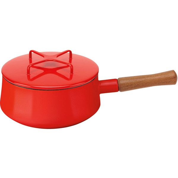 Lenox Kobenstyle 2-quart Chili Red Saucepan ($59) ❤ liked on Polyvore featuring home, kitchen & dining, cookware, red, red cookware, lenox cookware, oven safe cookware and lenox