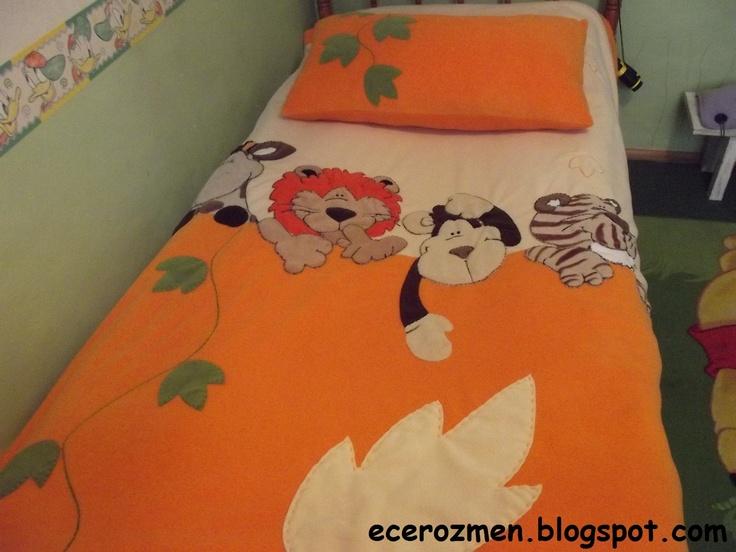 'orman hayvanları' yatak örtüsü