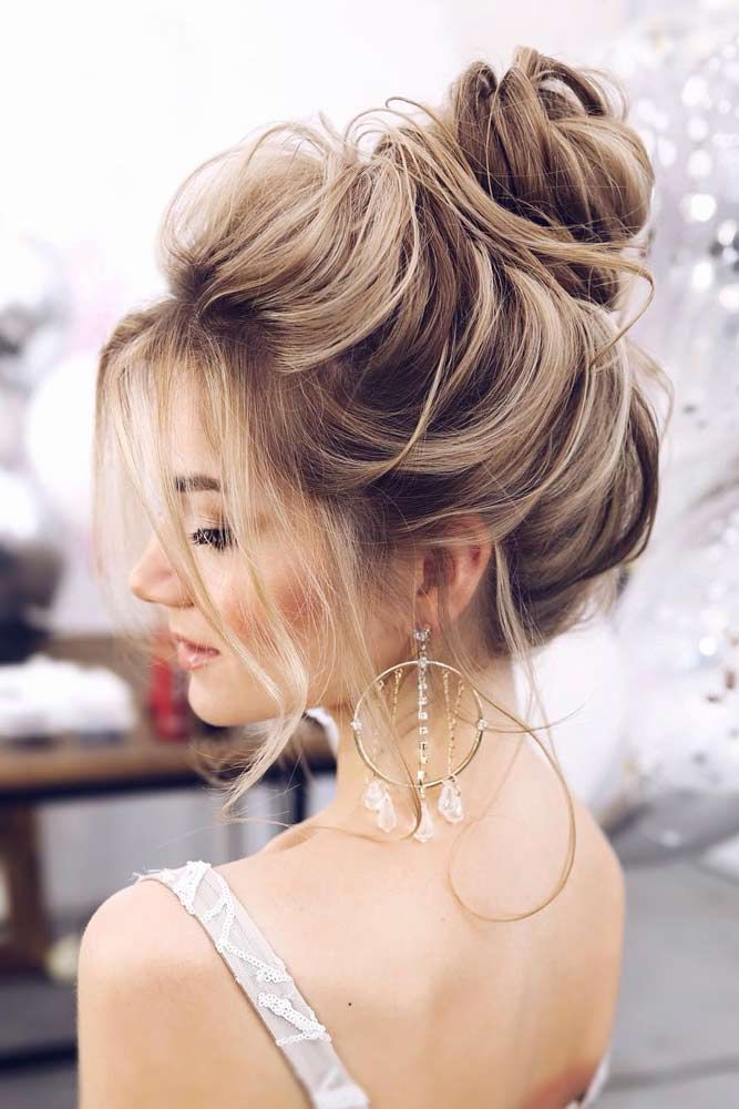 High Bun Hairstyles For Prom #promhairstyles #longhair #hairstyles #highbun ❤️ Check out our photo gallery featuring the fanciest prom hairstyles for long hair. It is the right place to make the perfect choice. #lovehairstyles #hair #hairstyles #haircuts