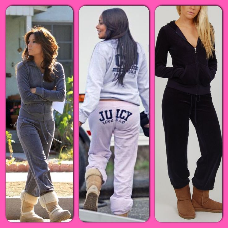 Love to wear my Juicy Couture track suits just like this with my uggs | My Style | Pinterest ...