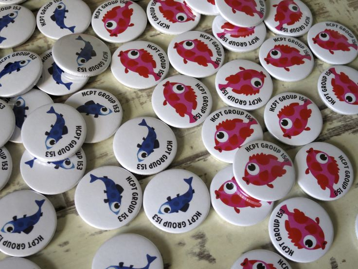 Custom fish badges we made for a wonderful customer. Order your own custom badges at
