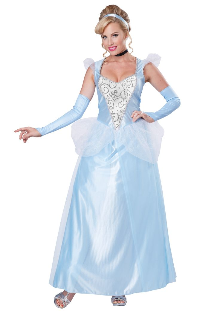imagine the day when your wishes come true in this womens classic cinderella costume this classic fairy tale gown will make any event feel more magical - Classic Womens Halloween Costumes