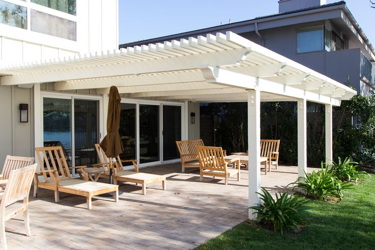 #brick pavers on the #patio with a wooden #pergola How would you use this patio?