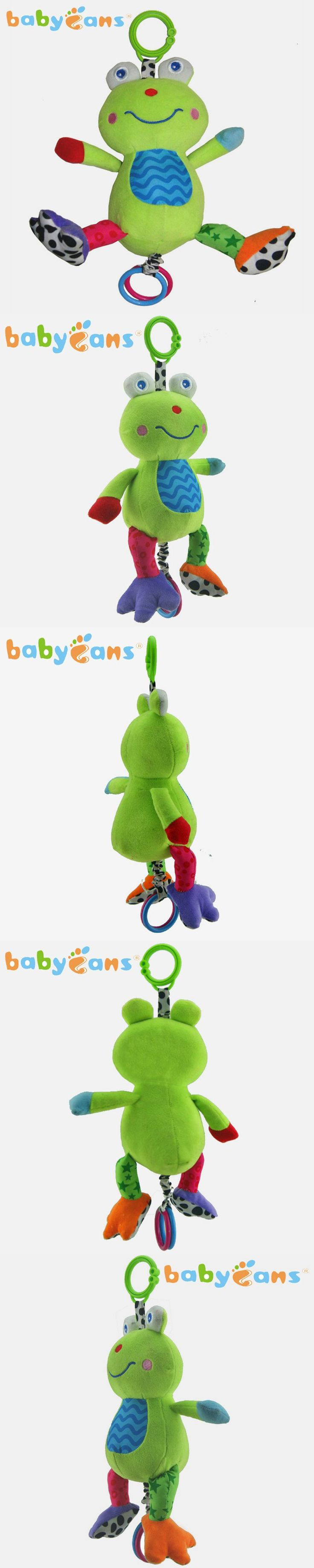 Sound Hanging Baby Rattles with Multifunction Bed Car Hang Baby Toy Musical Bug Cartoon Musical Animal Frog For Kids