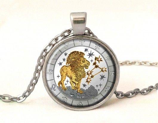 naszyjniki - wisiory-Medalion Lew - znaki zodiaku