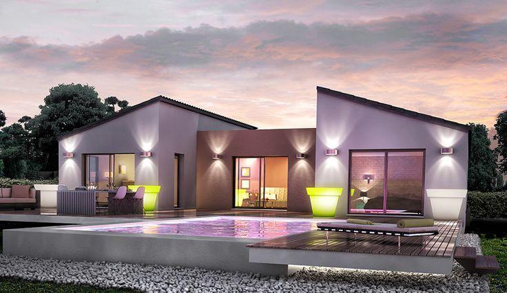 20 best Maison et abrit images on Pinterest Facades, Contemporary - plan de maison en v gratuit