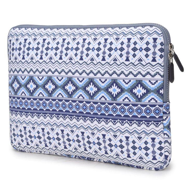 Coodio® ShockProof 35,8 cm (14 pouces) Etui de Protection Housse Pochette Sac Four Ordinateur Portable Chromebook 14 - Bohémien Bleu