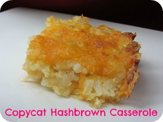 Have a down-south dinner with your own version of Cracker Barrel's hash brown casserole. | 15 Copycat Restaurant Recipes
