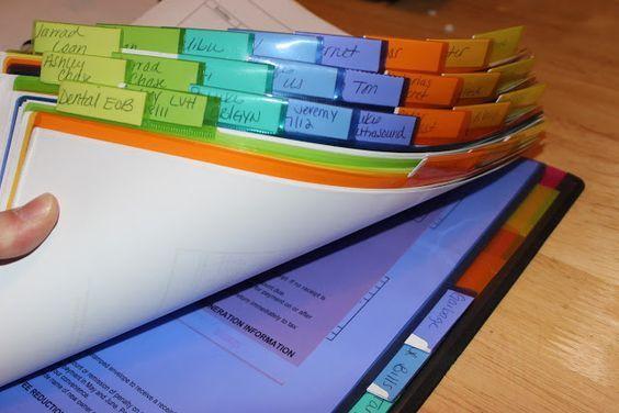 My Organized Bill Binder - how to organize your bills. organizingforsix.blogspot.com