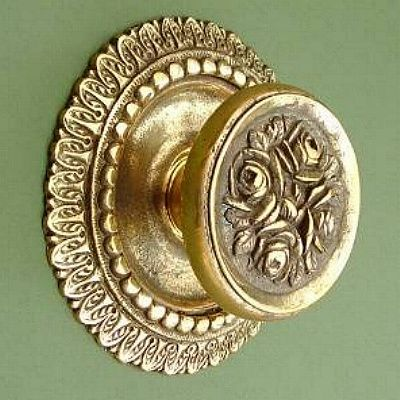 This Is A British Made Door Knob With A Fantastically Intricate Pattern.  The Door Pull