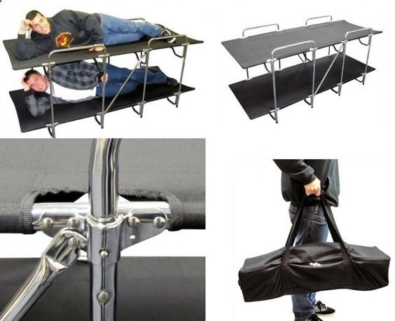 Camping Cot - two-person-camping-bed... A cot, for two? Nice! #camping #outdoors