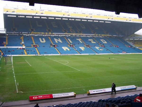 Elland Road, home of Leeds United Football Club.  Leeds! Leeds! Leeds!
