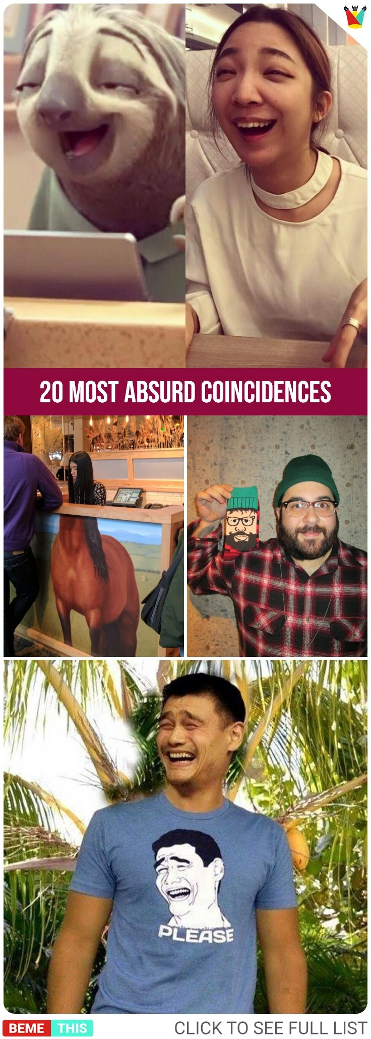 20 Most Absurd Coincidences That Doesn't Look Real