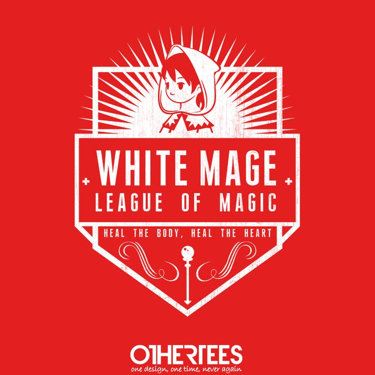 """League of White Magic"" by machmigo Shirt on sale until 21 May on http://othertees.com #finalfantasy"