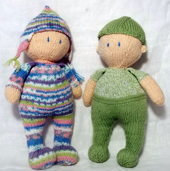 Jo-Jo dolls Knitting Pattern by ClaireFairallDesigns on Etsy