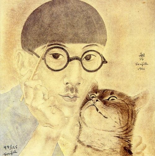 I adore Leonard Foujita. And I especially love the slightly crazed look of the feline in this one.