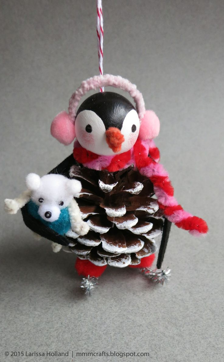 mmmcrafts: handmade gifts 2014: penguin ornaments for thing 1 and thing 2
