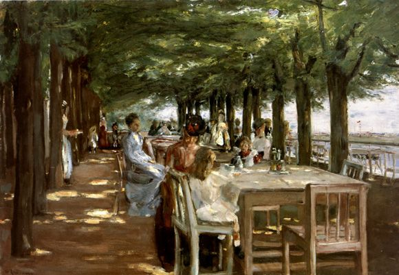 """Restaurante Jacob, junto al río Elba"". Max Liebermann (1847-1935)."