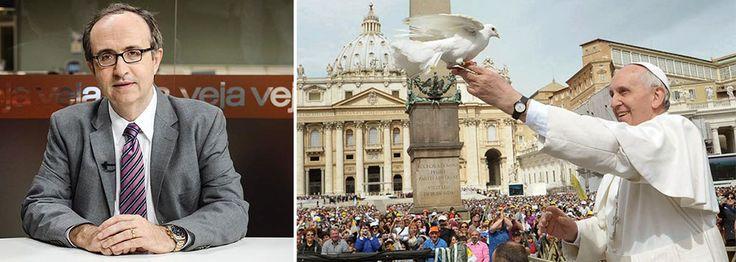 """Colunista neocon diz que opiniões do pontífice sobre o atentado em Paris e a liberdade de expressão são covardes, imprecisas e politiqueiras; """"Francisco tem cabeça e postura de cura de aldeia, não de papa""""; em discurso nas Filipinas, Papa disse que 'não se pode ofender, ou fazer guerra, ou assassinar em nome da própria religião ou em nome de Deus'"""