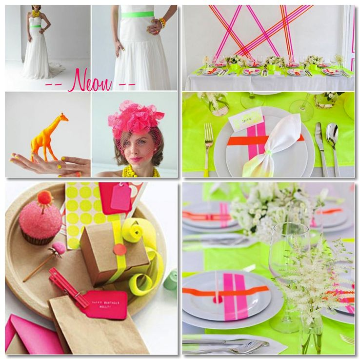Neon Weddings. A trend for summer 2012. Credits in following link.