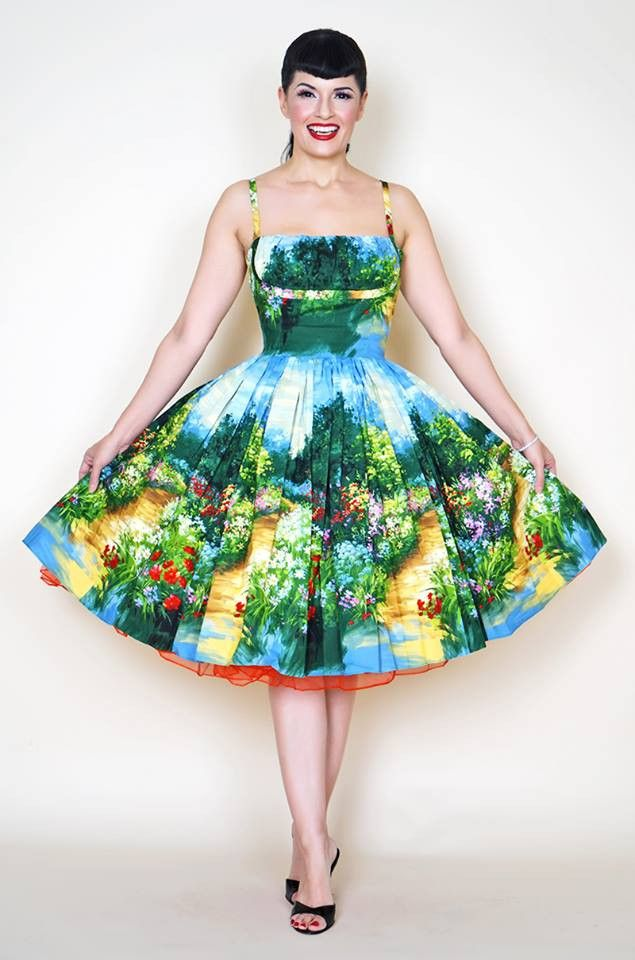 Paris Serenity Path - Bernie Dexter Pin Up Dresses and Vintage Inspired Clothing  - 1