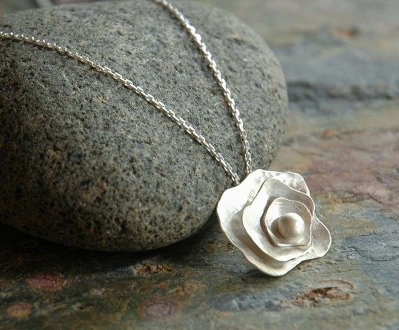 GARDENIA  Sterling Silver Pendant by sophiapip on Etsy, $65.00