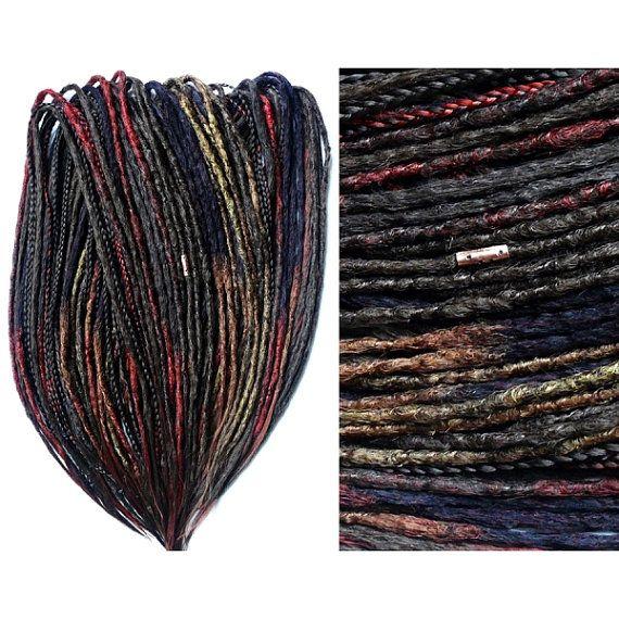 10-60 DE SYNTHETIC DREADLOCKS  / • custom • crocheted • natural look • dreads extensions / dread-shop