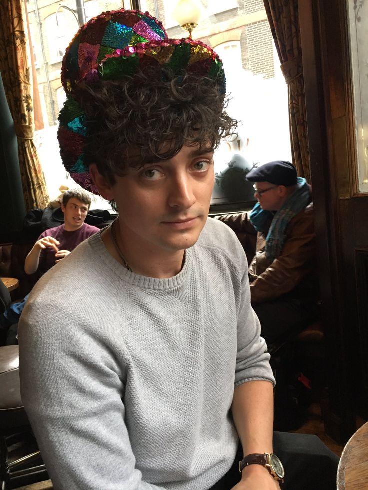 Aneurin Barnard in a hat