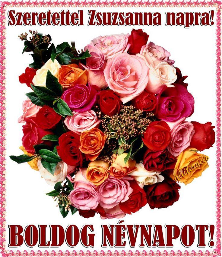 névnap, képek, képeslap, virágok, köszöntő, rózsa, csokor, szép,