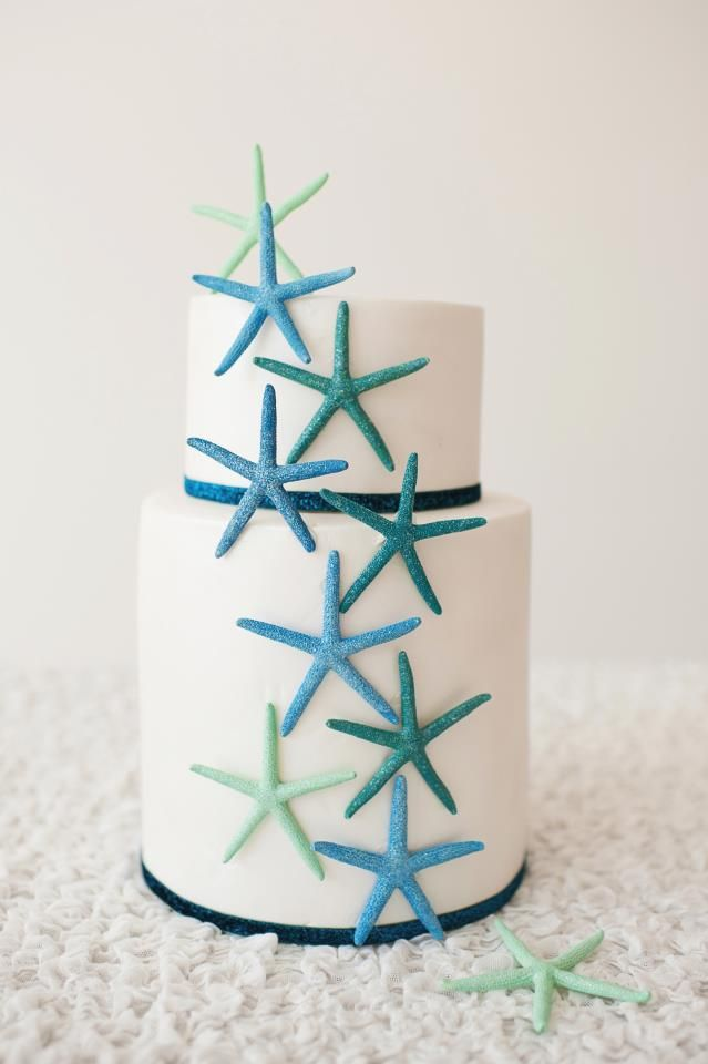 Beach Wedding Cake   www.cakeappreciationsociety.com  とても綺麗なケーキ。ウェディングじゃなくても食べてみたいw