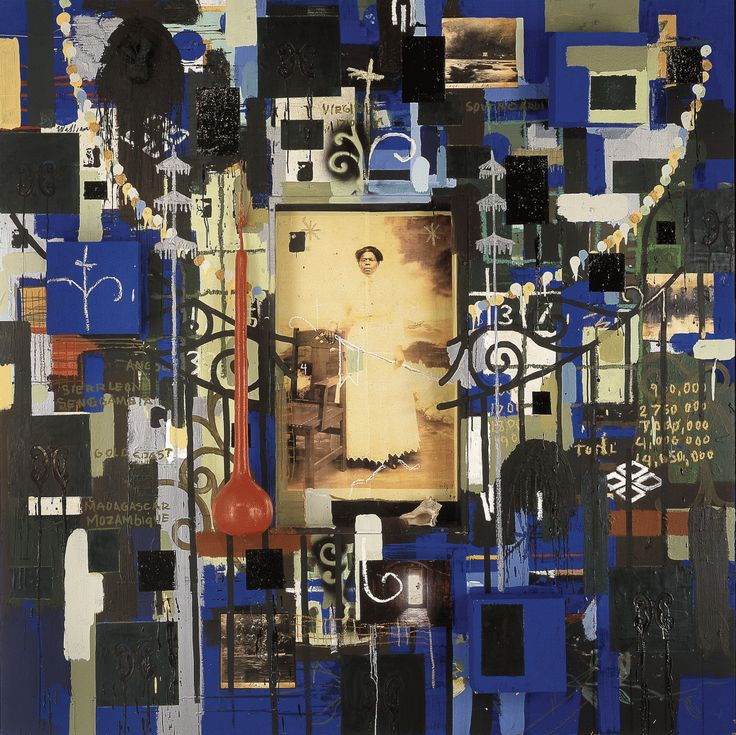 Radcliffe Bailey, Down by the River, 1998. Mixed media. Collection of Blanton Museum of Art, University of Texas, Austin. © Radcliffe Bailey