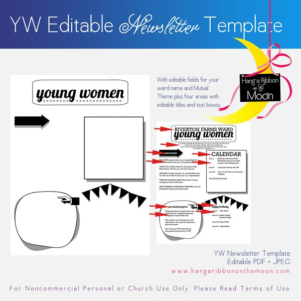 1000 images about young women on pinterest young women for Free online newsletter templates pdf