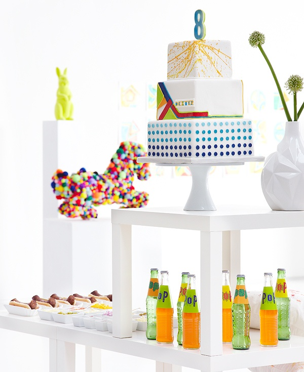 An Artful Bash - this cake is from a Dallas baker!